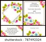 romantic invitation. wedding ...   Shutterstock . vector #787492324