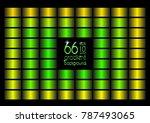 set of 66 green  yellow  gold... | Shutterstock .eps vector #787493065