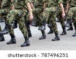 Serbian Army marches