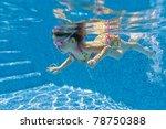 Active Underwater Kid In...