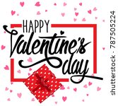 happy valentine's day with a... | Shutterstock . vector #787505224