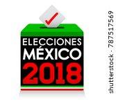 elecciones mexico 2018  mexico... | Shutterstock .eps vector #787517569