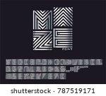 maze font set | Shutterstock .eps vector #787519171