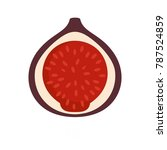fig icon. flat illustration of... | Shutterstock .eps vector #787524859