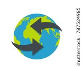 moving earth icon. flat... | Shutterstock .eps vector #787524985