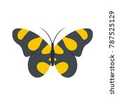 butterfly in wildlife icon.... | Shutterstock .eps vector #787525129