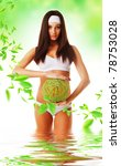 healthy eco woman in water with ...   Shutterstock . vector #78753028