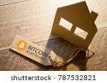 virtual money bitcoin...   Shutterstock . vector #787532821