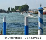 pillars in the canal in venice  ... | Shutterstock . vector #787539811