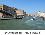 old buildings and a canal in... | Shutterstock . vector #787540615