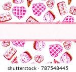 sweet romantic pink valentine... | Shutterstock . vector #787548445