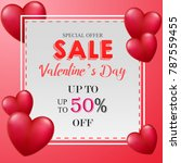 valentine's day sale banner | Shutterstock .eps vector #787559455
