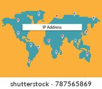 ip address and data and... | Shutterstock .eps vector #787565869