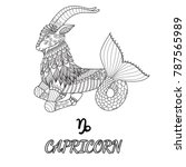 line art design of capricorn... | Shutterstock .eps vector #787565989