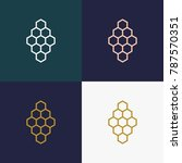 honeycomb geometric polygonal... | Shutterstock .eps vector #787570351