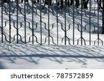winter landscape. texture... | Shutterstock . vector #787572859