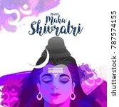illustration of happy maha... | Shutterstock .eps vector #787574155