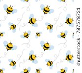 bee seamless pattern. honey... | Shutterstock .eps vector #787578721