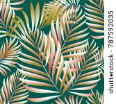 seamless pattern of a tropical... | Shutterstock .eps vector #787592035