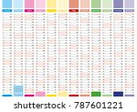 elegant annual planner for year ... | Shutterstock .eps vector #787601221