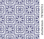 spanish tile pattern vector... | Shutterstock .eps vector #787602511