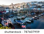 Fishing Boats In The Harbour A...