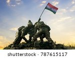 Statue Of Indian Soldiers...