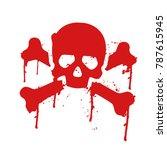 skull and crossbones dripping... | Shutterstock .eps vector #787615945