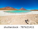 "green lagoon or ""laguna verde""  ...   Shutterstock . vector #787621411"