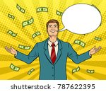 happy businessman with smile... | Shutterstock .eps vector #787622395