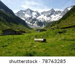 alpine scene with glacier in... | Shutterstock . vector #78763285