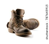 Hiking Boot Isolated On White...