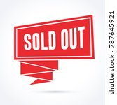 sold out banner | Shutterstock .eps vector #787645921