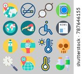 icon set about medical. with... | Shutterstock .eps vector #787646155