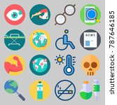 icon set about medical. with... | Shutterstock .eps vector #787646185