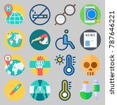 icon set about medical. with... | Shutterstock .eps vector #787646221