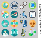 icon set about medical. with... | Shutterstock .eps vector #787646329