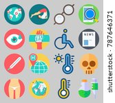 icon set about medical. with... | Shutterstock .eps vector #787646371