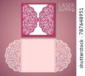 laser cut wedding invitation... | Shutterstock .eps vector #787648951