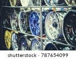 mag wheel for car on the shelf. ... | Shutterstock . vector #787654099