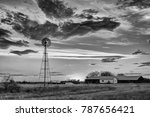 A Water Pumping Windmill At...