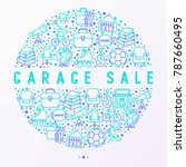 garage sale concept in circle... | Shutterstock .eps vector #787660495