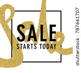 sale promotion banner. creative ... | Shutterstock .eps vector #787661707
