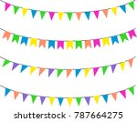 bunting flags  celebration ... | Shutterstock . vector #787664275