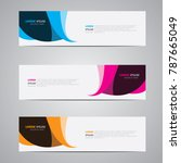 banner background.modern... | Shutterstock .eps vector #787665049