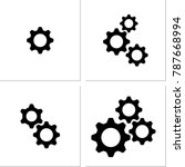 setting icon  gear  user... | Shutterstock . vector #787668994