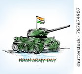 indian army day with tricolour... | Shutterstock .eps vector #787674907