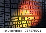 minnesota main places and... | Shutterstock . vector #787675021