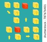 box surprise on green... | Shutterstock .eps vector #787676401