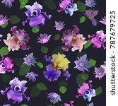 vector seamless pattern of... | Shutterstock .eps vector #787679725